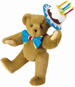 "15"" Birthday Cake Bear - Birthday Gifts"